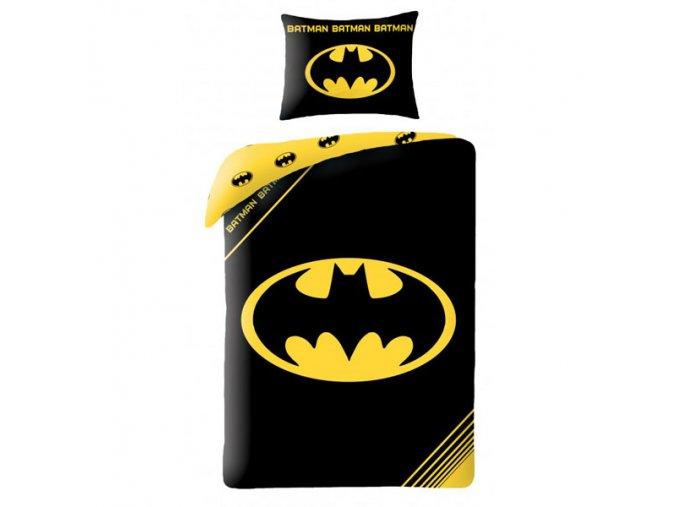 Povlečení Batman znak 140/200, 70/90  - skladem