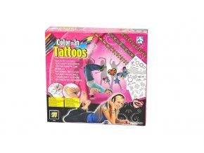Vybarvovací tetování pro holky - skladem