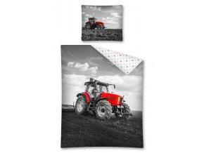 DETEXPOL Povlečení Traktor černobílý  Bavlna, 140/200, 70/80 cm