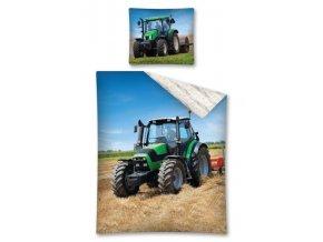 Povlečení Traktor zelený 140/200, 70/80 - skladem
