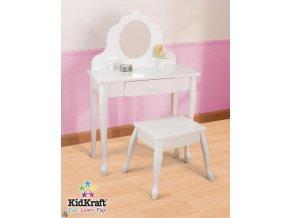 Toaletní stoleček KidKraft se stoličkou bílý 13009