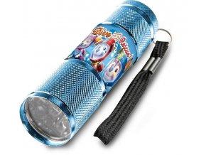 Dětská hliníková LED baterka Paw Patrol modrá