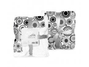 Fleece deka s beránkem kruhy 150/200