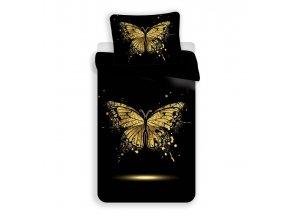 3D Povlečení Zlatý motýl micro 140/200, 70/90