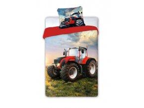 Povlečení Traktor červený 140/200, 70/90 - skladem