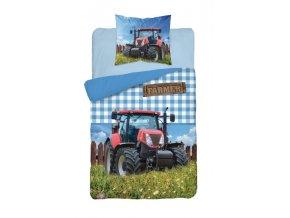 DETEXPOL Povlečení Traktor Farmer Bavlna, 140/200, 70/80 cm - skladem
