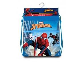 EUROSWAN Taška na tělocvik a přezůvky Spiderman Paralelní světy Polyester, 38/30 cm