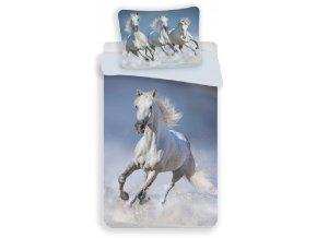 JERRY FABRICS Povlečení Horses white Bavlna, 140/200, 70/90 cm