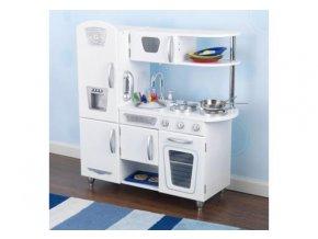 Kidkraft Dětská dřevěná kuchyňka White Vintage, bílá 53208