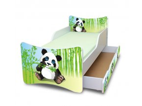 Dětská postel se zábranou a šuplík/y Panda