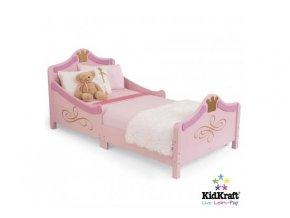 KidKraft Dětská postel PRINCEZNA růžová