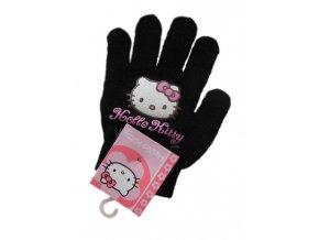Pletené rukavice Hello Kitty černé 22952