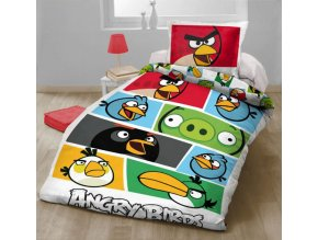Ložní povlečení Angry Birds Bílá 140/200 - skladem