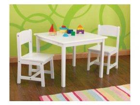 KidKraft Dětský stůl a dvě židle Aspen - bílý set