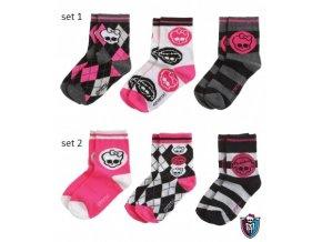 Set ponožky Monster High 3páry/1 balení