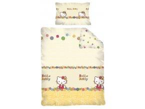 Povlečení do postýlky Hello Kitty KNOFLÍKY 100/135