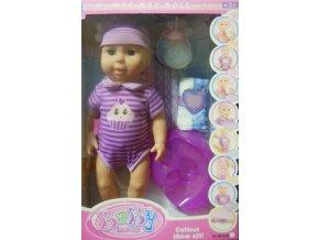 Panenka miminko v proužkovaném oblečku