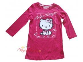 Tunika-Triko-Hello Kitty dlouhé tmavě růžová 2100