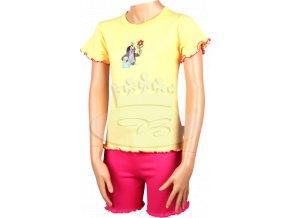 Pyžamo Krteček 012 krátké žlutá N