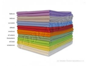 Bavlněné plátěné prostěradlo 2 Lůžko s gumou 180x200 barevné Veratex