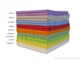 Bavlněné plátěné prostěradlo 1 Lůžko 140x240 barevné Veratex