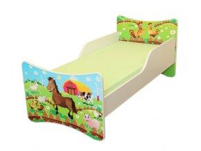 Dětská postel se zábranou FARMA