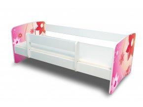 Dětská postel s bariérkou Filip - KYTIČKY
