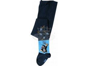 Dětské punčocháče KR 222 Krtek vzor 4 - modrá
