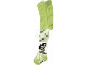 Dětské punčocháče KR 222 Krtek vzor 5 - zelená
