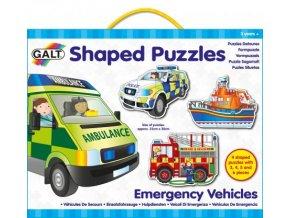 Puzzle ZÁCHRANNÉ VOZY tvarované puzzle