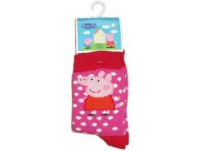 Ponožky Peppa Pig červené