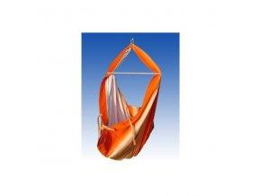 Hacka - Závěsná textilní kolébka - oranžový
