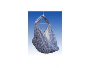 Hacka - Závěsná textilní kolébka - modrotisk