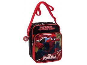 Taška přes rameno s kapsou Spiderman Red City19 cm - SKLADEM