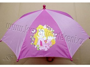 DIOMERCADO Dětský deštník Princezna Aurora pr.65 cm, délka 55 cm