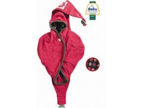 Nosítko babyvak a fusak Lodger Shelter Fleece - Framboise