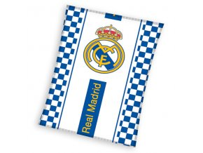 Fleece deka Real Madrid kostky 110/140