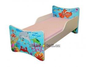 Dětská postel se zábranou Oceán