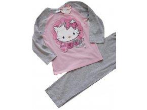 pyžamo hello Kitty šedorůžové
