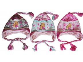 Pletená čepice  Barbie s copánky 952-780