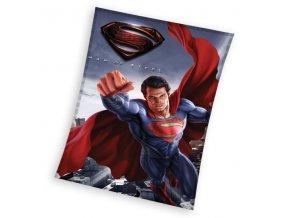 Fleece deka Superman 110/140