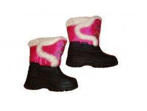 Dětské sněhule tm. růžové