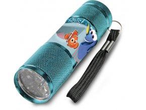 Dětská hliníková LED baterka Hledá se Dory