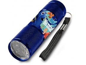 Dětská hliníková LED baterka Hledá se Dory Modrá