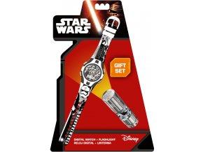 Dárková sada Star Wars Stormtrooper Hodinky a LED baterka