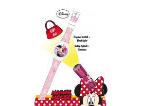 Dárková sada Minnie Mouse Hodinky a LED baterka