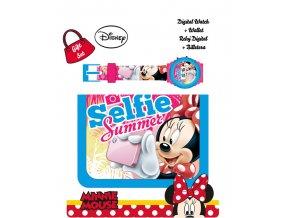 Dárková sada peněženka a hodinky Minnie Selfie
