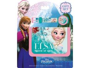 Dárková sada peněženka a hodinky Ledové království Elsa