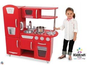 KidKraft Dětská dřevěná kuchyňka Red Vintage 53173