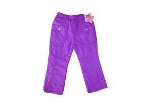Dívčí vyteplené šusťákové kalhoty-fialová